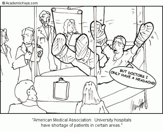 Cartoon #27, American Medical Association: University